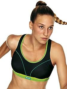 Shock Absorber - Ultimate Run - Sport-BH - Schwarz-Limette, Größe 75B, Farbe Schwarz-Limette