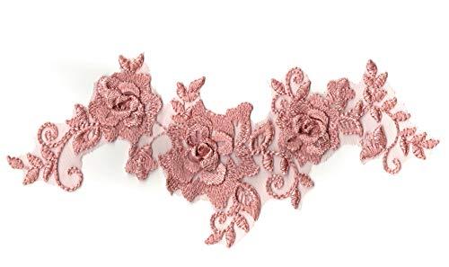 craftuneed Eine Lila Dusk Pink Double Layered Floral Spitze Aufnäher Flieder Dusk Pink Floral Tüll Spitze Motiv Pro Stück Kostenlose UK PP Schnelle Versand - Floral Layered