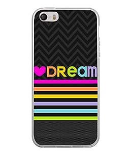 PrintVisa Tangerine Dream Quote High Gloss Designer Back Case Cover for Apple iPhone 5S