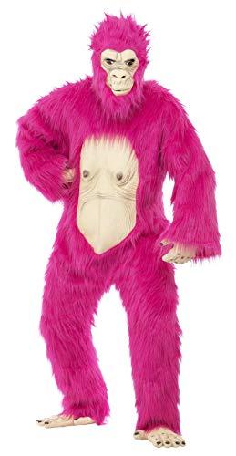 Smiffys, Herren Deluxe Gorilla Kostüm, Bodysuit mit Latex-Maske, Händen und Füßen, Größe: One Size, 45392