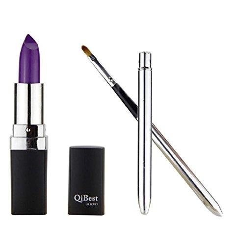 Kolylong® Lippenstift Damen Kolylong 1 Satz Wasserdicht Lippenstift Lip Gloss und Mini Lippenpinsel PP/