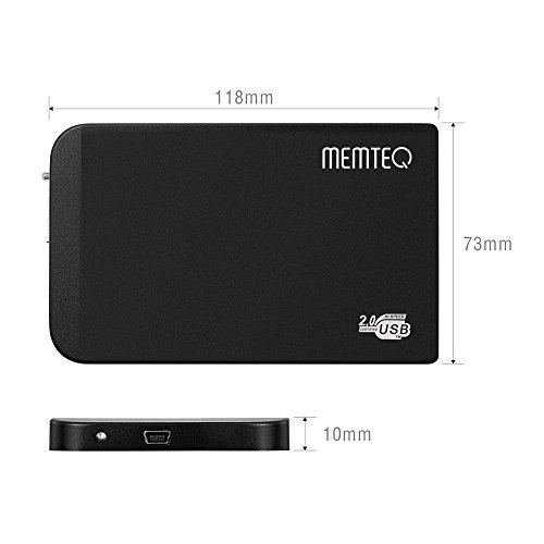"""Foxpic Box Case Esterno per 2.5"""" IDE HDD Hard Disk Drive USB 2,0 - Nero"""