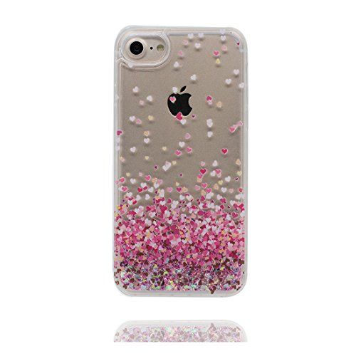 """iPhone 6S Coque, Skin Hard Clear étui iPhone 6 / 6S, Design Glitter Bling Sparkles Shinny Flowing (Heart Bling), iPhone 6 Case Shell 4.7"""", Apple iPhone 6S Cover 4.7"""" résistant aux chocs # 1"""
