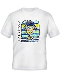 Brubaker Motiv T-Shirt Shirt Fisch weiß reine Baumwolle Größen M L XL XXL