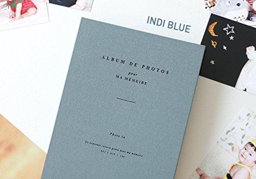 Iconic Foto in Spring Fotoalbum–Album De Fotos Slip in Fotoalbum, Indi Blue, Photo Size : 4 x 6