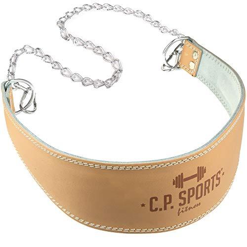 C.P. Sports Trainings Dip Gürtel Leder Komfort Gepolstert Trainingsgürtel, Natur, One size