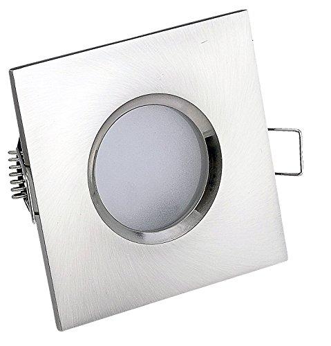 bad einbaustrahler ip65 quadratisch farbe edelstahl geb rstet 230volt gu10 fassung ohne. Black Bedroom Furniture Sets. Home Design Ideas
