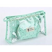 XDXDWEWERT Trousse de Maquillage Sac de Rangement Pliable Mode Transparent Sac de Lavage Sac Pochette cosmétique pour Les Femmes (Vert)