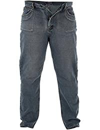 Rockford Mens New Comfort Fit Large Size Quality Jeans Dirty Denim