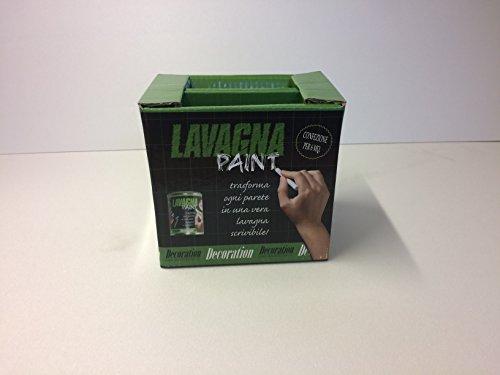 Kit New Lavagna Paint - Pittura Effetto Lavagna per Gessetti - per 6 Mq compreso di gessetti, cacellino e Roller Kit.
