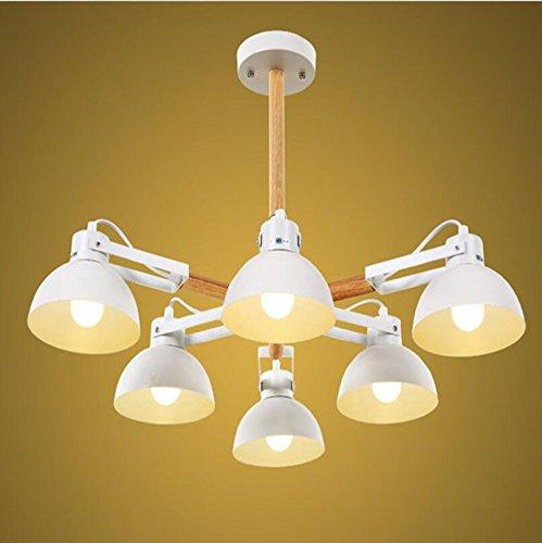 Suspensions Plafonnier américain loft moderne minimaliste salon lampe chambre restaurant fer art bois lampes