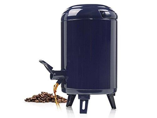 Bluespoon Getränkespender 3,8 Liter | Für Heiß- und Kaltgetränke | Airpot mit integriertem Zapfhahn | Inklusive 2 Abtropfschalen | Beine sind Ein- und Ausklappbar | Mit praktischem Transportgriff