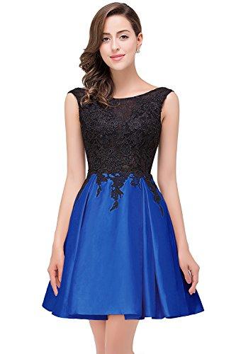Babyonline Damen Abschlusskleider Royalblau Elegant Abendkleid Cocktailkleid Knielang Festlich...