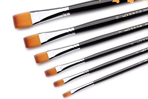 surblue-long-handle-nylon-hair-professional-art-brushes-set-of-6-for-acrylic-oil-and-gouache