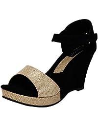 Footshez New Arrival Best Hot Selling Women's Black Casual Wedges Low Price Sale