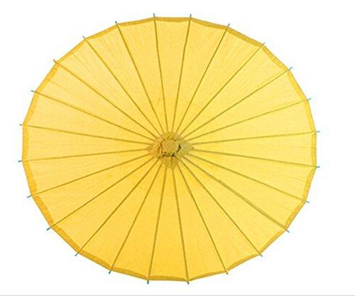ANKKO Chinesischen Japanischen Stil Bambus Sonnenschirm Tanzen Regenschirme (Gelb)