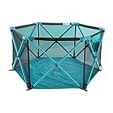 NYDZDM Kindersicherheits-Zaun-Kleinkind-Innenspiel-Zaun-faltendes Baby kriechender Matten-Zaun (Farbe : Blau, größe : 6 Panel)