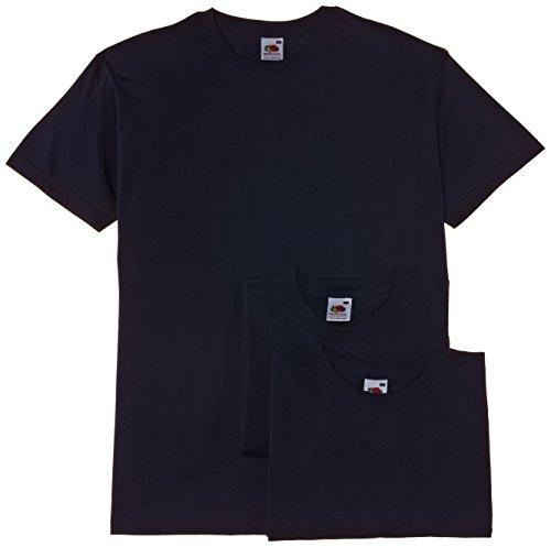 Fruit of the Loom Herren, T-Shirt, Valueweight T Shirt 3 pack Blau (Navy)
