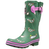 Ladies Evercreatures Evergreen Collection Multi Themed Short Wellies Wellington Boots (UK 3-8)