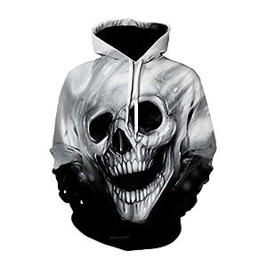 Herren Shantou Muster Hoodie Gothic Style Design 3D Gedruckt Spandex Winter Langarm Kordelzug Pullover Halloween Neuheit Shirt