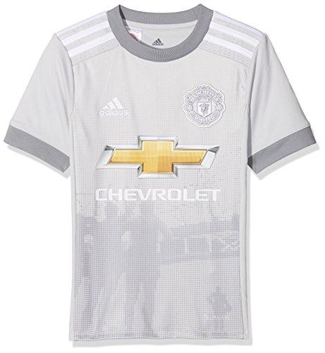 Adidas Mufc Manchester United 3JSY Y Shirt Third 2017–2018, Kinder L grau (grpulg / weiß) (Camiseta De Manchester United)