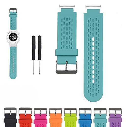 iFeeker Zubehör Einstellbare Soft Silikon Ersatz Armbanduhr Armband für Garmin Approach S2 /S4 GPS Golf Watch/Garmin vivoactive Sport GPS-Smartwatch (Teal Garmin-uhr)