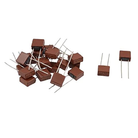 sourcingmap® 20 Pcs DIP Mounted Miniature Square Slow Blow Micro Fuse T4A 4A 250V
