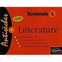 Littérature Terminale L : Les Métamorphoses, Ovide Les Caractères, La Bruyère Le Procès, Kafka Les planches courbes, Bonnefoy