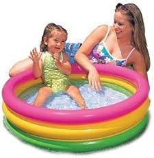 Intex Inflatable Baby Pool, Multi Color (3-feet) - Medium