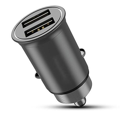 GQY Auto-Ladegerät Aluminium-Auto-Ladegerät Dual-Port-Ausgang 5V 4.8A Mobile Computer Kamera Schnellladung (Dual-port-blitz-auto-ladegerät)