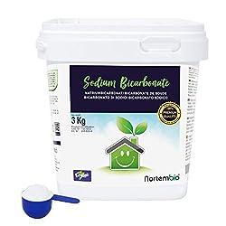 Natron NortemBio 3 Kg. Premium Natriumhydrogencarbonat in Pharmazeutischer Qualität. Ökologischer Input aus natürlichem Ursprung. Natriumbicarbonat. Aluminiumfrei. E-Book Inklusiv.