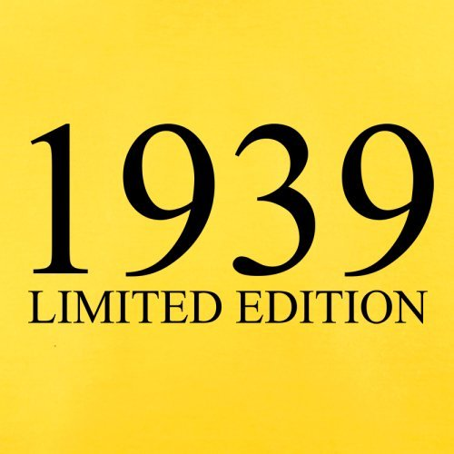 1939 Limierte Auflage / Limited Edition - 78. Geburtstag - Herren T-Shirt - 13 Farben Gelb