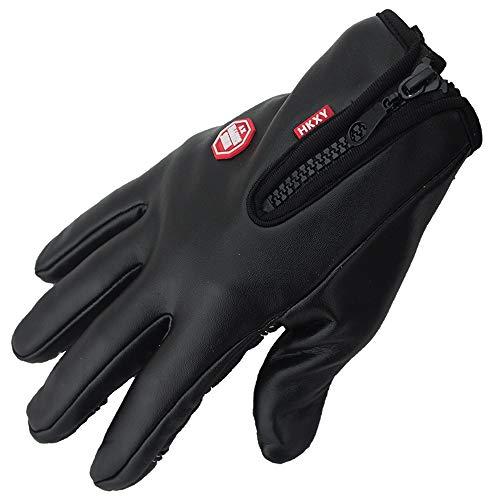 Cicongzai Winter-warme Handschuhe, Touchscreen-Mode-Design-Handschuhe Winter-Radhandschuhe Thermische, Winddichte, warme Fleecejacke für Laufen, Radfahren, Fahren (Color : Black, Size : M) -
