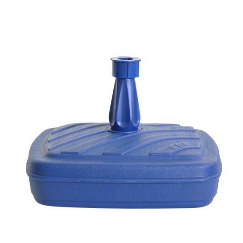 Ribelli Schirmständer Sonnenschirmständer Granit & Kunststoff Weiß, Blau & Viele Mehr, Ausführung:Schirmständer Kunststoff 14L Blau