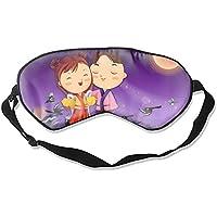 Preisvergleich für Bequeme Schlafmasken niedliches Paar in Kimonos Schlafmaske für Reisen, Mittagsschlaf oder Mediation oder Yoga