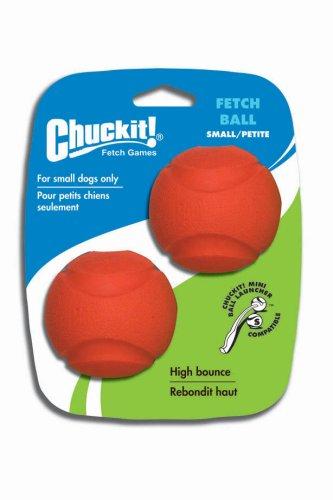 Chuckit Fetch palla cane giocattolo, 5cm, Piccolo, 2 pezzi