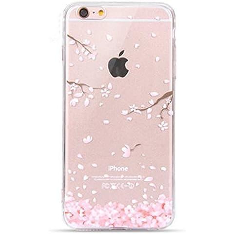 Visibee - Funda de silicona TPU flor de cerezo ultra-delgada del gel suave para el iPhone SE iPhone 5 5s
