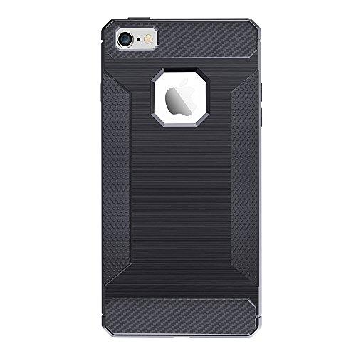 Für Apple IPhone 5 u. 5s u. SE TPU Abdeckungs-Fall gebürstete Linien Beschaffenheit Karikatur-Faser Haltbare Anti-Rutsch TPU Abdeckung Schock-Absorbtion schützende rückseitige Abdeckung ( Color : Dark Dark Gray