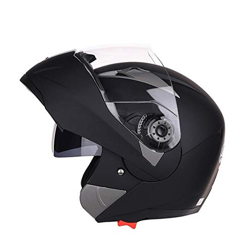 Fancylande Anti-Fog Vierjahreszeiten Motorradhelm, Halbhelm Pedal Motorrad Cruiser, Doppelscheibe Helm Vier Jahreszeiten Männer und Frauen