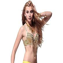 Traje de la danza del vientre Bra Tops Beaded With Diamond Fringe Bra Top Dancewear Bra Costumes
