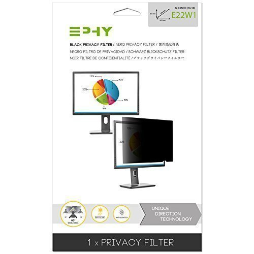 EPHY Privacy Filter / Anti-Glare / Screen Protector for Laptop TFT Monitor Desktop PC LCD LED Screen - Compatible with Apple iMac Macbook DELL SAMSUNG ACER V7 3M IBM LENOVO HP COMPAQ AOC ACER ASUS SHARP LG NEC (22
