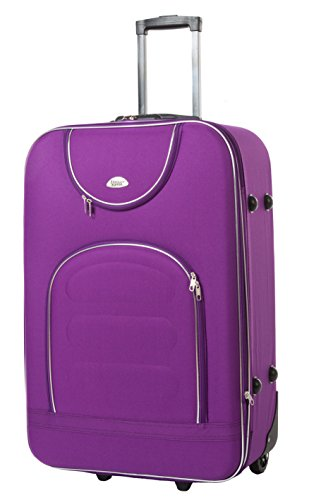 Edelnice Koffer Valise Noir lilas xl