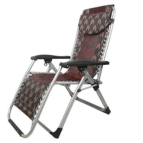 Wangyueha Komfortable Outdoor Ergonomisch Gestaltete Lounge Liege Tragbare Metall Klappstuhl Mittagspause Stuhl Strand Nickerchen Stuhl Modegeschmack (Farbe : Muti-Color)