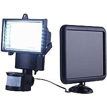 Lampada Solare Luci con 60 LED da Esterno Automatica Sensore di Movimento Regolabile Casa Giardino Scale