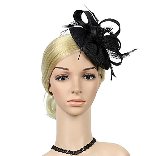 DeHolifer Feather Ladies Party Headdress Tanzparty Abend Kopfbedeckungen (Jade Womens Kostüm)