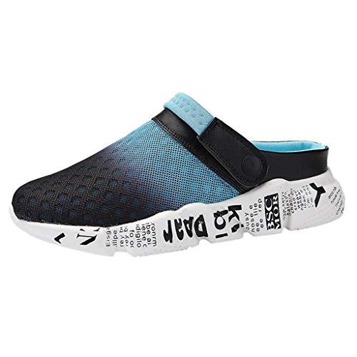 YU'TING Verano Hombre Zapatillas Zuecos Sandalias Respirable Malla de Playa Antideslizante Deportes Zapatos