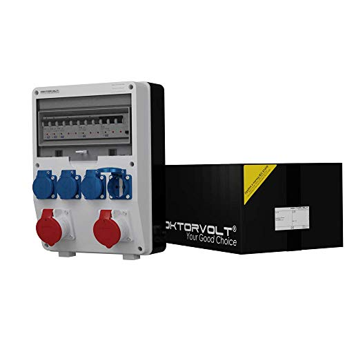 Stromverteiler TD-S/FI 2x16A 4x230 Wandverteiler Steckdosenverteiler Baustromverteiler 6565