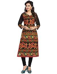 Ishin Cambric Cotton Black Printed Party Wear Wedding Wear Casual Daily Wear Office Wear Festive Wear New Collection...