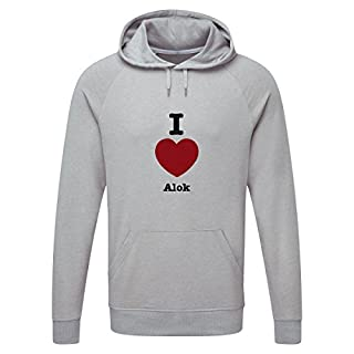 The Grand Coaster Company I Love alok Light Grey Hooded Sweatshirt Medium