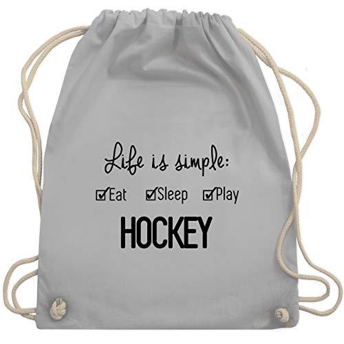 Eishockey - Life is simple Hockey - Unisize - Hellgrau - WM110 - Turnbeutel & Gym Bag
